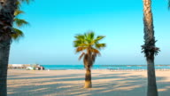 Cleaning the beach, Salou in Spain video