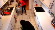 Cleaning the kitchen video