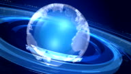 Clear Blue Loopable Rotating Globe video