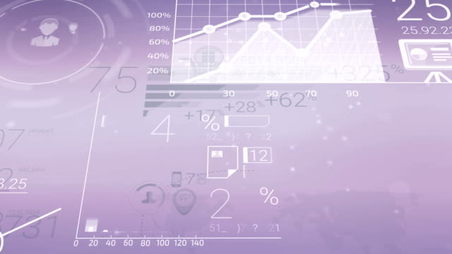 Clear Corporate Background With Abstract Elements Of Infographics video