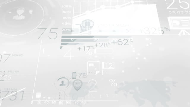 Clear Gray Corporate Background With Abstract Elements Of Infographics video