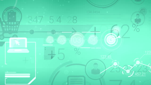 Clear Green Corporate Background With Abstract Elements Of Infographics video