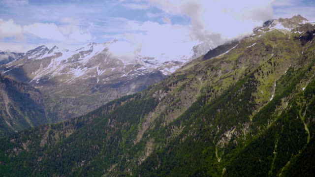Clear nature in the summer in the Swiss mountains. video