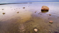Clear water on the rocky shore in Altja video