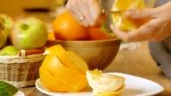 Cleared of peel orange, video