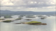 Clew Bay Archipelago  - Aerial View - Connaught, County Mayo, Ireland video