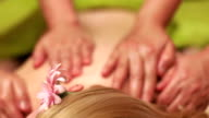 Client Getting Oil Back Massage video