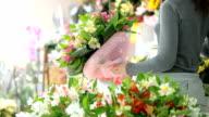 Client Shopping In Florist Shop video