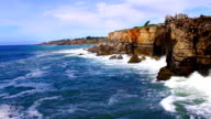 Cliff and Waves, Real Time, Cascais, Lisbon, Portugal video