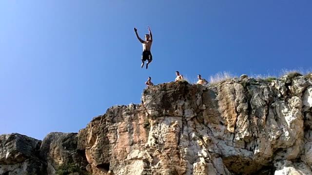 Cliff jump video