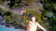 Cliff Jumping in Hawaii. Summer Fun Lifestyle. video
