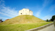 Cliffords Tower in York, England, UK time lapse video