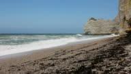 Cliffs at Etretat of Normandy video