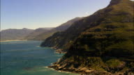 cliffs by Noordhoek Beach - Aerial View - Western Cape,  South Africa video