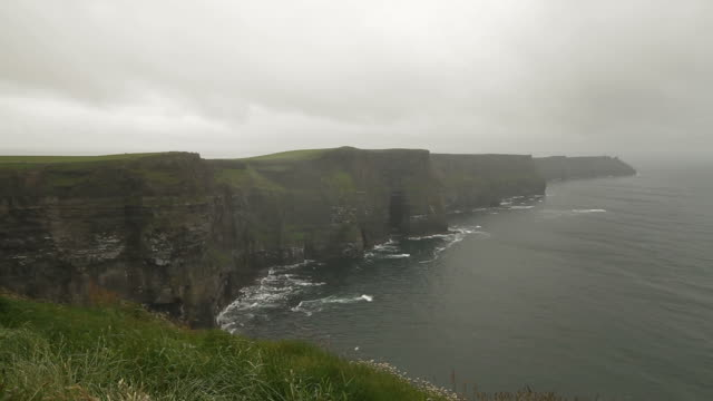 Cliffs of Moher - County Clare, Ireland - Pan video