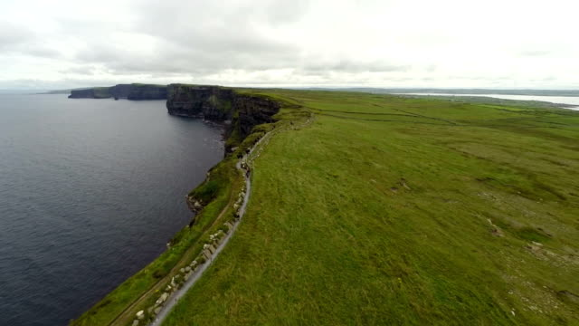 Cliffs of Moher from air video