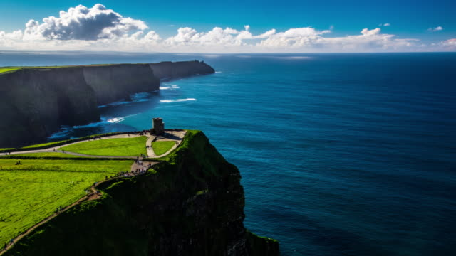 Cliffs of Moher in Ireland - Aerial video