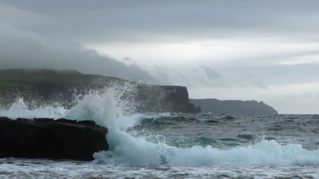 Cliffs Of Moher In Stormy Weather video