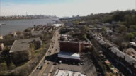 Cliffside Park Aerial Shot Of Street With The Hudson River & Manhattan In View video