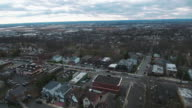 Cliffside Park NJ Aerial Flyover Houses & Traffic video