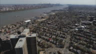 Cliffside Park NJ Aerial Overhead The Top Of The Shot Cross Shaped High Rises video