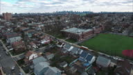 Cliffside Park NJ Aerial Rotating Shot At Sunset video