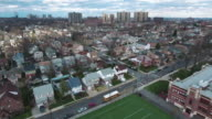 Cliffside Park NJ Aerial Rotating View Of Area From School video