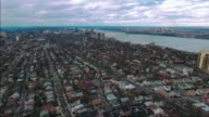 Cliffside Park NJ Aerial Shot Headed Closer Towards GW Bridge video