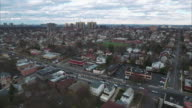 Cliffside Park NJ Aerial Shot Headed Towards School video