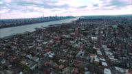 Cliffside Park NJ Aerial Shot Of Downtown Manhattan video