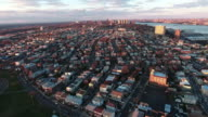 Cliffside Park NJ Aerial View Of Buildings During Sunset video