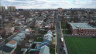 Cliffside Park NJ Aerial View Of School & Buildings video