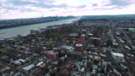 Cliffside Park NJ Aerial View Traveling Towards Downtown Mahattan video