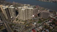 Cliffside Park NJ Ascension To Overhead Shot Of Apartment Buildings & Homes video