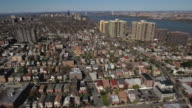 Cliffside Park NJ Flying Over Homes Towards Apartment Buildings video