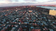 Cliffside Park NJ Flyover Buildings During Sunset With Some Trees video