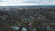 Cliffside Park NJ Flyover Shot Of Homes With Partly Cloudy Skies video