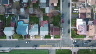 Cliffside Park NJ Overhead Ascending Shot Of Buildings School Field video
