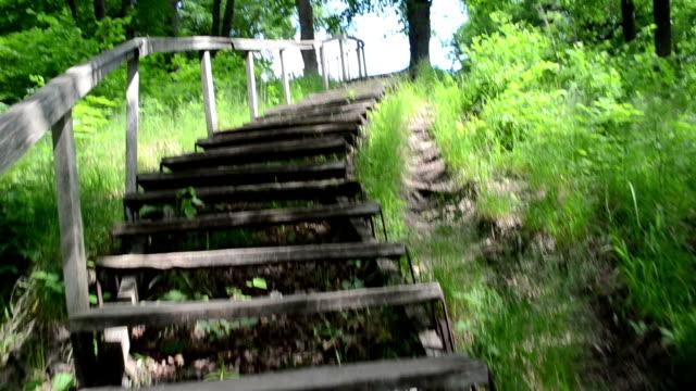 climb up stair wooden video
