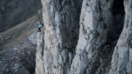 Climber getting to top of route  Tureni Gorge Transylvania video