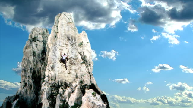 Climber on the Top video