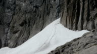 Climbers crossing avalanche cone video