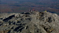 Climbers On Monadnock Mountain  - Aerial View - New Hampshire,  Cheshire County,  United States video