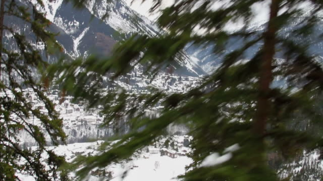 Climbing a mountain with cable car video