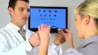 Clinical eye testing video