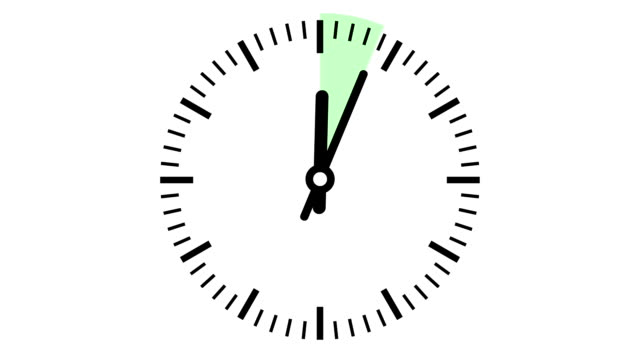 Clock 15 minutes timelapse smooth video