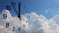 Clock and clouds, twelve a clock video