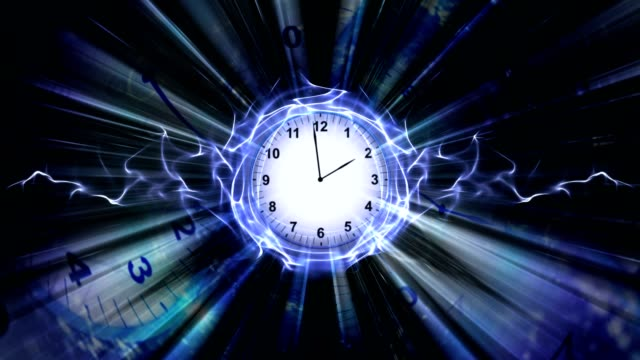 Clock and Technology Abstract, Background, Animation video