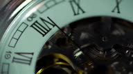 Clock, eternal mechanism. Time passing quickly. The history of human video