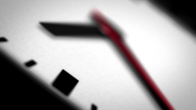 Clock Face Macro Angle of Second Hand video